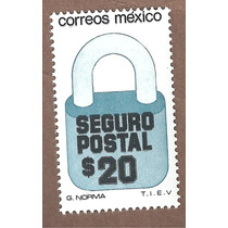 Exporta Seguro Postal Candado $20 5ta Serie Nueva 31mm