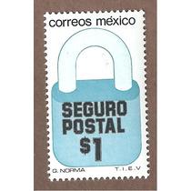 Exporta Seguro Postal Candado $1 5ta Serie Nueva