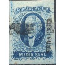 1736 Clásico Scot #1 Veracruz Hidalgo .5 Real Usado 1856