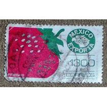 Sello Postal Mexico Exporta Fresas 1992