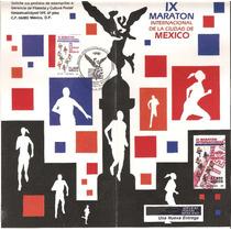 Emisión 91, Ix Maraton Intl Mexico Folleto Primer Dia