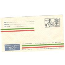Sobre Mexico Exporta $1.60 Bicicleta. Entero Postal