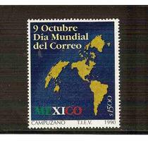 1990 México 9 De Octubre Día Mundial Del Correo Sello Nuevo