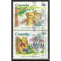 1996 Canada Winnie The Poo Y Oso Teddy Disney Sellos Usado