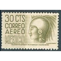Sc C210 Año 1953 Cuauhtemoc 30c Con Wm 300 Horizontal 30c