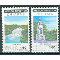 Sc C615 - C616 Año 1979 Colima Y Chiapas Mexico Turistico