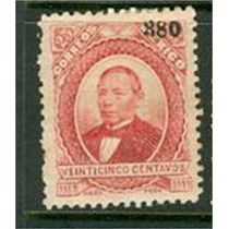 Sc 127 Juarez 25 Cent Papel Grueso Año 1880 Dist 3 Veracruz