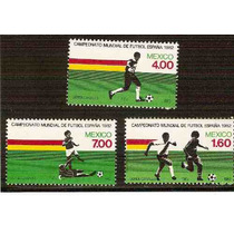 1982 Mex. Campeonato Mundial De Futbol España Serie 3 Sellos