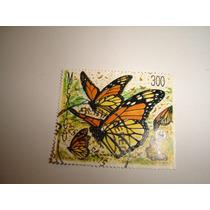 Estamp Correos Mex Serie 3 Pzas Mariposa Monarca 1988