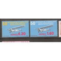 Timbres 50 Aniversario Primera Ruta Postal Aerea ( Mexico )