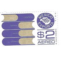Estampilla México Exporta Libros $2.00 Primera Serie Nuev