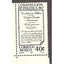 Mexico 50 Años De La Constitución Del 17, 1967 Nueva