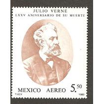Estampilla De 1980 Julio Verne Nueva Aerea