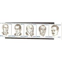 1985 Escritores Mexicanos Arte Y Ciencia 5/sellos Unidos Mnh