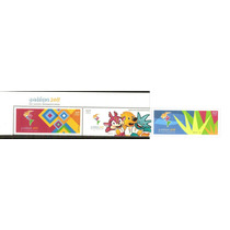 2011 Juegos Panamericanos, Guadalajara 3 Sellos C/etiqueta