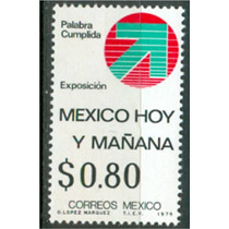 Sc 1148 Año 1976 Palabra Cumplida Mexico Hoy Y Mañana Exposi
