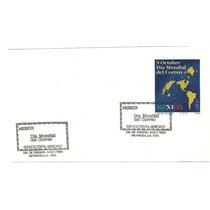Hoja Carnet Primer Día Mapas Dia Mundial Correo 1990