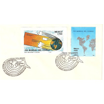 Sobre Primer Día Dia Mundial Del Correo Mapas C/hojita 1988