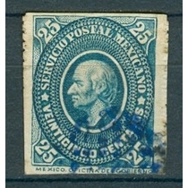 Sc 173 Año 1885 Medallon Hidalgo 25c