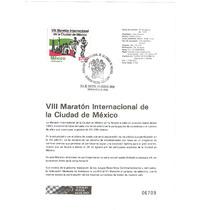 Hoja Carnet Primer Día Maraton Cd De México 1990