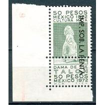 Sc () Año 1971 Fiscal Cultura Maya 50 Pesos Dama De Pie Imp.