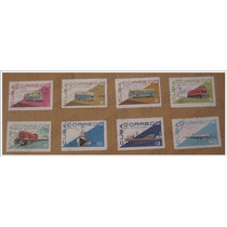 Set 8 Estampillas Timbre Postal - Transportes - Cuba 1965
