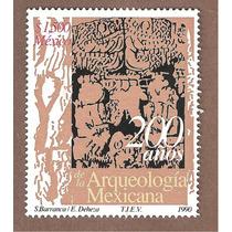 Estampilla 200 Años Arqueología Mexicana 1990