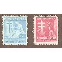 Estampillas De Cuba Lucha Contra La Tuberculosis 1949, 1953