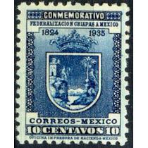 0437 México Scott #734 Escudo Chiapas 10c Mint L H 1937