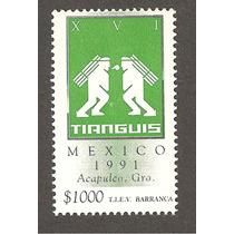 Estampilla , Tianguis Turistico Acapulco 1991 Lbf