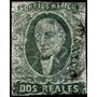 1417 Clasico Verde Az 2 Reales Dto México Gótico Usado 1867