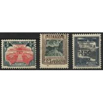 2654 México Méx- Laredo Ordinarios 3 Sellos Mint L H 1936