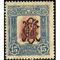 3125 Revolución Azul-bermellón S C Villa 15c Mint L H 1915