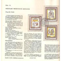 Hoja Carnet Primer Dia Personajes Prehispánicos 1982