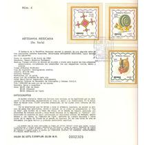 Hoja Carnet Primer Día Artesanía Mexicana 1982
