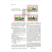 Estampillas Emisión Mundial De Futbol España 1982