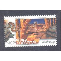Mexico Conserva Desiertos $10.50 Tortuga Serpiente Fauna