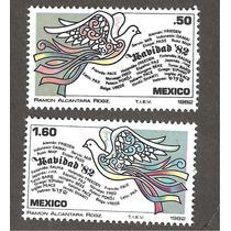 Estampillas Navidad 1982 México Palomas Vbf