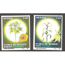 Estampillas Flora, Maíz Y Papaya 1982