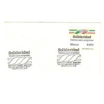 Sobre Estampilla Programa Solidaridad 1991