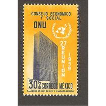 Estampilla Mexico Onu Escudo 1959 Vbf