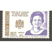 Visita De La Reina Juliana Holanda A México Escudo 1964