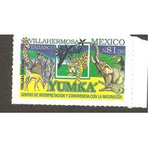 Estampilla Yumka Tabasco 1994 Fauna