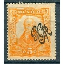 Sc 488 Año 1910 Miguel Hidalgo 5c Independencia + Carranza