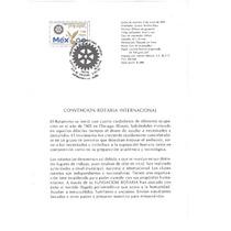 Hoja Primer Día Convención Rotarios Intl. México 1991