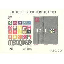 Ti17-méxico 68 Hoja Souvenir Juego Olimpicos Sc.c344a+sellos