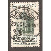 Cancelación Saltillo Coah. 30 Octu 1939 Mn4