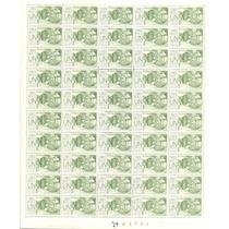 Planilla De 50 Timbres De Seguro Postal De 1.00 De La Decima