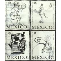 0185 México Béis Bol Serie 4 Piezas Usadas 1999