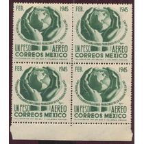 Block De Cuatro De 1 Peso Año 1945 Conferencia Interamerican